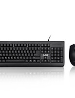 AJAAZZ-X1180 Cable Keyboard Mouse Suit Desktop PC Game Office Keymouse Waterproof Kit