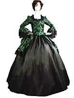 cheap -Gothic Lolita Dress Punk Lolita Dress Vintage Victorian 1960s Women's Adults' One Piece Dress Cosplay Green Floral Bell 3/4 Length Sleeves