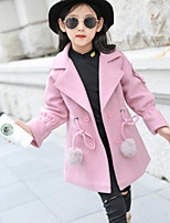 cheap -Girls' Solid Jacket & Coat Blushing Pink Red