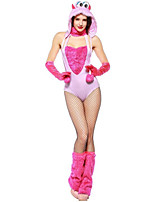 cheap -Princess Animal One Piece Dress Cosplay Costume Female Halloween Carnival New Year Festival / Holiday Halloween Costumes Pink Color Block