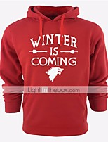cheap -Winter is Coming Ugly Christmas Sweater / Sweatshirt Male Festival / Holiday Halloween Costumes Black Gray Cyan Red Blue Letter