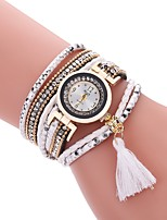 cheap -Women's Casual Watch Fashion Watch Bracelet Watch Chinese Quartz Imitation Diamond PU Band Casual Bohemian Tassels Black White Blue Red