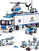 cheap -Building Blocks Truck Toys Police Station Transporter Truck Police Vehicles Kids 572 Pieces