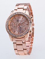 cheap -Women's Couple's Casual Watch Fashion Watch Wrist watch Chinese Quartz Casual Watch Alloy Band Luxury Casual Cool Silver Gold Rose Gold