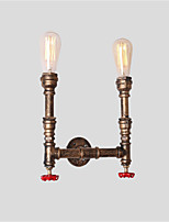 cheap -Loft Vintage Industrial Style Metal Wall Sconce Living Room Dining Room And Bar with 2 Light Water Pipe Wall lamp