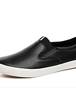 cheap -Men's Shoes PU Winter Fall Comfort Loafers & Slip-Ons for Casual Blue Black White
