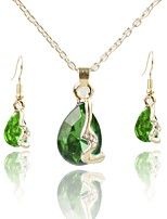cheap -Women's Jewelry Set Bridal Jewelry Sets Simple Fashion Wedding Daily Gold Plated 1 Necklace Earrings