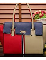 cheap -Women Bags PU Shoulder Bag Buttons for Casual All Season Khaki Red White Blue
