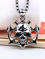 cheap -Men's Skull Hiphop Fashion Pendant Necklace , Alloy Pendant Necklace , Carnival Going out
