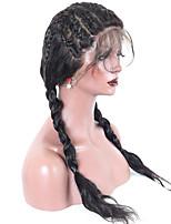 Недорогие -жен. Парики из натуральных волос на кружевной основе Малазийские волосы Натуральные волосы Реми 360 Лобовой 180% плотность С пушком