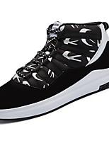 preiswerte -Herren Schuhe Gummi Frühling Herbst Komfort Sneakers Band-Bindung für Schwarz/weiss Schwarz/Rot