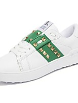 cheap -Men's Shoes Synthetic Microfiber PU Winter Fall Comfort Sneakers Running Shoes for Casual White/Green Black White