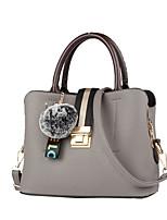 cheap -Women Bags PU Shoulder Bag Zipper for Casual Office & Career All Season Yellow Gray Red Black Green
