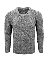 cheap -Men's Sports Long Pullover,Solid Round Neck Long Sleeves Polyester Fall Winter Medium Micro-elastic
