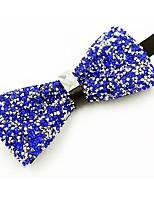 economico -Da uomo Per tutte le stagioni Cotone Vintage Da serata Papillon,Cristalli Royal Blue