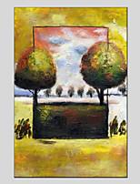 Недорогие -Ручная роспись Цветочные мотивы/ботанический Modern Холст Hang-роспись маслом Украшение дома 1 панель