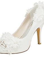 economico -Da donna Scarpe Raso elasticizzato Primavera Estate Decolleté scarpe da sposa A stiletto Punta aperta Perle per Serata e festa Formale