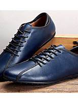 cheap -Men's Shoes Cowhide Spring Fall Comfort Oxfords for Casual Blue Yellow White