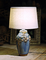 cheap -Simple Eye Protection Table Lamp For Living Room Ceramic 220V Blue