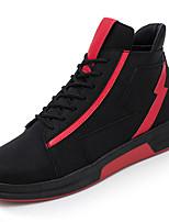 Недорогие -Для мужчин обувь Резина Весна Осень Удобная обувь Кеды Для прогулок Ботинки Ленты для Серый Черно-белый Черный/Красный