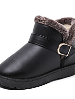 cheap -Girls' Shoes Leatherette Winter Fall Comfort Snow Boots Boots Booties/Ankle Boots for Casual Blue Red Brown Black