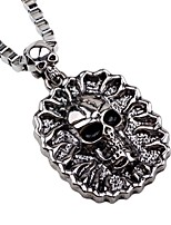 cheap -Men's Skull Rock Gothic Pendant Necklace Chain Necklace , Alloy Pendant Necklace Chain Necklace , Halloween Club