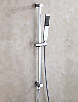 cheap -Contemporary Wall Installation Handshower Included Single Handle Two Holes Chrome , Shower Faucet
