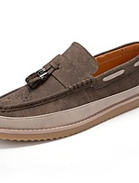 cheap -Men's Shoes PU Spring Fall Comfort Loafers & Slip-Ons for Casual Brown Gray
