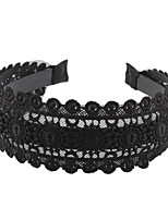 cheap -Women's Hair Comb,Simple Lace Jewelry All Seasons Black
