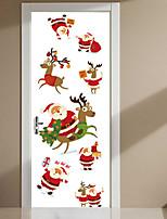 Noël Animal Stickers muraux Autocollants avion Autocollants muraux décoratifs,Vinyle Décoration d'intérieur Calque Mural Mur