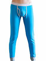 abordables -Hombre Microelástico Sólido Medio Long Johns,Algodón Poliéster 1pc Azul Piscina Verde Trébol Blanco Gris Amarillo