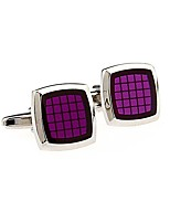 cheap -Geometric Blue Red Purple Cufflinks Copper Fashion Wedding Daily Men's Costume Jewelry