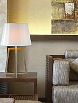 Недорогие -Художественный Защите для глаз Настольная лампа Назначение Дерево/бамбук 220 Вольт Белый