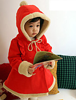 cheap -Girls' Birthday Daily Solid Suit & Blazer,Cotton Polyester Long Sleeves Cute Casual Red