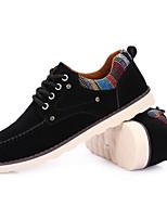 Недорогие -Для мужчин обувь Нубук Весна Осень Удобная обувь Туфли на шнуровке для Повседневные Черный Темно-синий Верблюжий