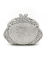 cheap -Women Bags Metal Evening Bag Crystal Detailing for Wedding Event/Party All Season Silver Gold