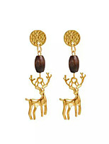 cheap -Women's Drop Earrings Animals Fashion European Wooden Alloy Elk Jewelry Causal Daily