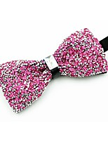 cheap -Men's Cotton Bow Tie,Vintage Party Crystal/Rhinestone All Seasons Blushing Pink