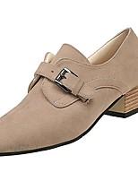 Недорогие -Для женщин Обувь Полиуретан Весна Осень Удобная обувь Обувь на каблуках На низком каблуке для Черный Бежевый