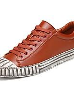 Недорогие -Для мужчин обувь Резина Весна Осень Удобная обувь Кеды Ботинки Ленты для Белый Черный Коричневый Синий