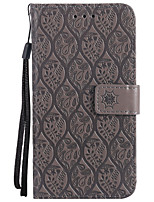 cheap -Case For Samsung Galaxy S8 Plus S8 Card Holder Wallet with Stand Embossed Full Body Solid Color Flower Hard PU Leather for S8 Plus S8 S7