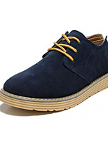 cheap -Men's Shoes Cowhide Winter Fall Comfort Oxfords for Casual Dark Green Royal Blue Brown Dark Blue