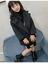cheap -Girls' Solid Jacket & Coat Black