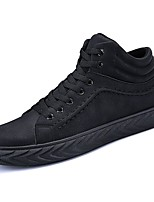 cheap -Men's Shoes Synthetic Microfiber PU Winter Light Soles Sneakers for Casual Black/White Black