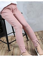 cheap -Girls' Solid Pants Winter Fall Black Blushing Pink