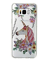 cheap -Case For Samsung Galaxy S8 Plus S8 IMD Pattern Back Cover Unicorn Glitter Shine Soft TPU for S8 Plus S8 S7 edge S7