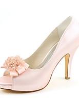 economico -Da donna Scarpe Raso elasticizzato Primavera Estate Decolleté scarpe da sposa A stiletto Punta aperta Perle per Formale Serata e festa