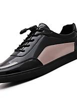 abordables -Hombre Zapatos PU Primavera Otoño Confort Zapatillas de deporte para Casual Dorado Negro