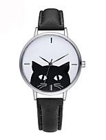 abordables -Mujer Niños Reloj Casual Reloj de Moda Reloj creativo único Chino Cuarzo Cronógrafo Resistente al Agua Reloj Casual Piel Banda Casual