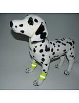 abordables -Gato Perro Banda Reflectante Acentos del pie Ropa para Perro Casual/Diario Lolita Sólido Naranja Amarillo Disfraz Para mascotas
